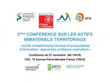 2ème conférence sur les Actifs Immatériels Territoriaux