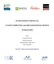 International conference on Cloud Computing and Organisational Design – 29 March 2018