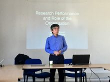 Prof Hirano presented his study on the Impact of Indirect Departments on Research Productivity