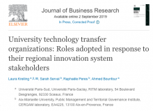 Publication in the Journal of Business Research on University Technology Transfer Organizations